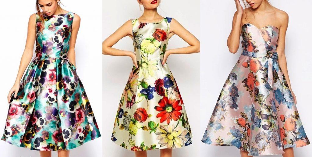 floral-midi-prom-dress-skater-dress-in-satin-with-full-skirt (1)rochii de vara from LaFrivole
