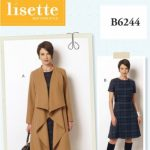 LISETTE 6244 - SHAWL COAT & LINED DRESS