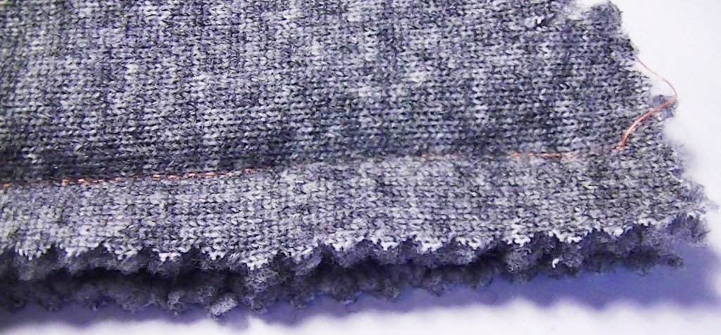 Use a straight stitch, length 3 to sew together