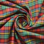 Jazz - Multicoloured Checked Cotton Shirting Fabric