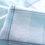 Wincyette - Skye - White Pale Navy Blue Checked Cotton Wincyette Fabric