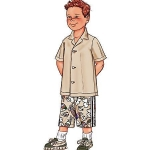B3475 BOY'S SHIRT & SHORTS | EASY Butterick Pattern