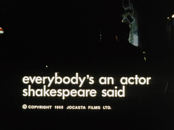 Everybody's an Actor, Shakespeare Said (1968)