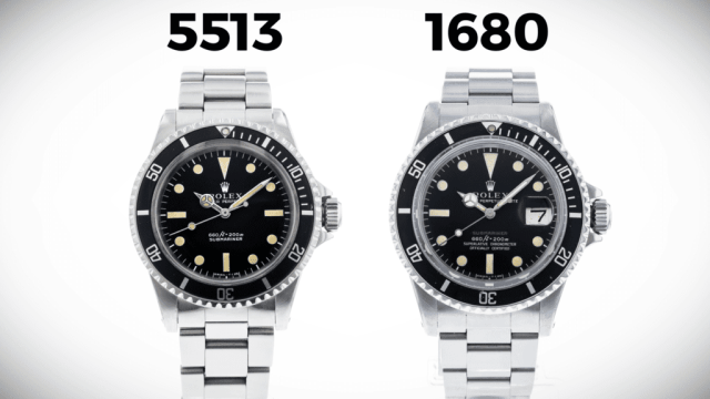 5513 and 1680 Rolex Submariners