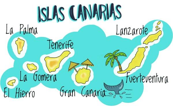 Mapa de Canarias