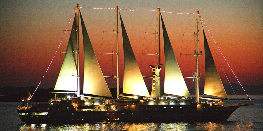 Windstar Cruises Wind Spirit at Sunset