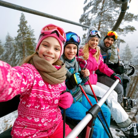 Take the family on a winter vacation for skiing