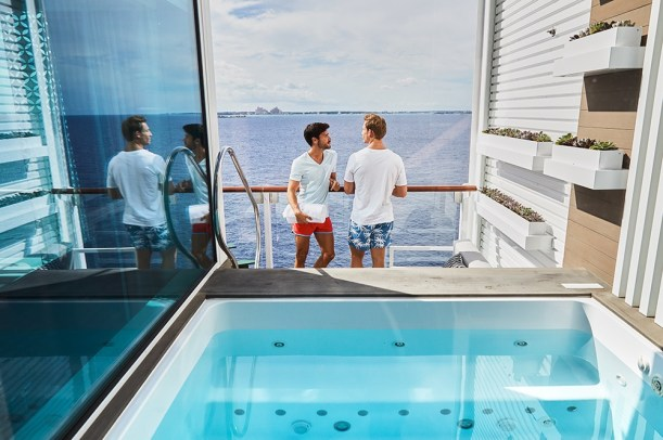 Celebrity Edge villa has private plunge pool