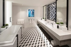 Spacious bathroom in Royal Suite bathroom