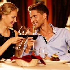 Romantic Anniversary celebration over dinner
