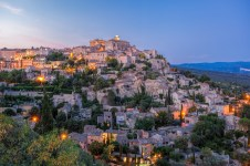 Gordes In Provence Against Sunset In France