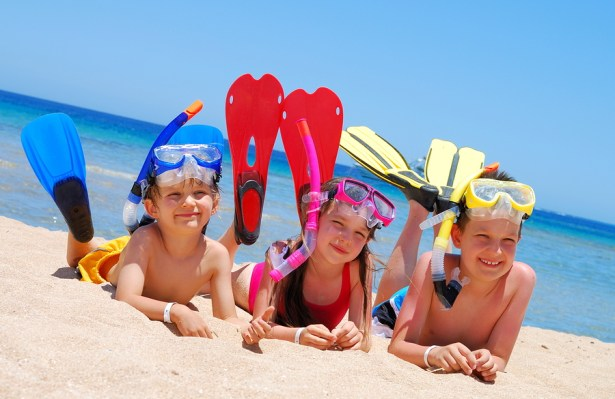 Take the kids snorkeling on the private island