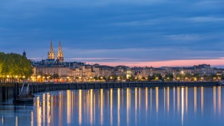 Bordeaux, France In The Evening