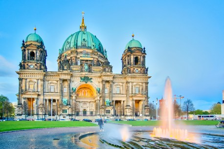 fountain in front of Berlin Cathedral Berliner Dom in Berlin