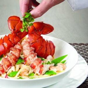 Linguini with lobster is a delicious entree on Norwegian Cruise Line menus