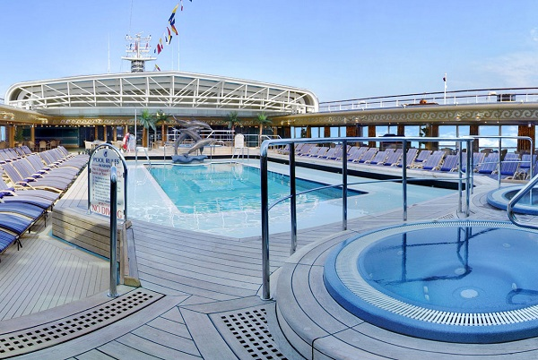Refreshing pools on Holland America Cruises