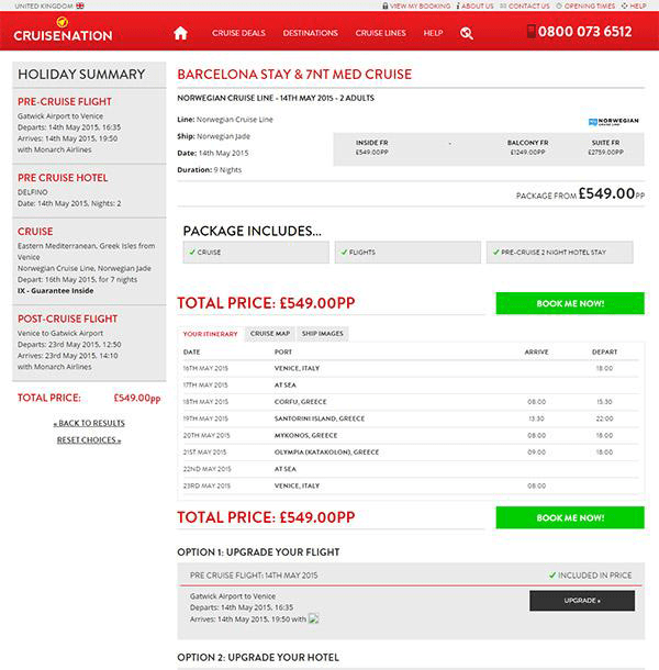 Cruise Nation Online Booking System