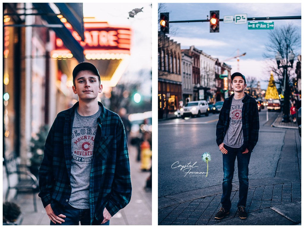 Downtown Franklin Senior Portrait Session