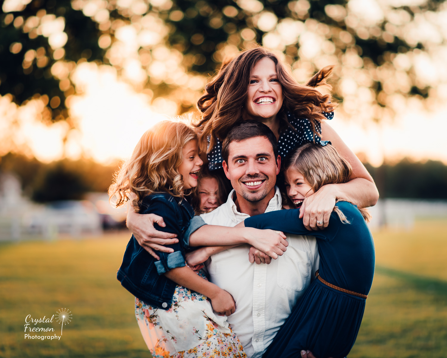 Family of Five portrait Session at Harlinsdale Farms in Franklin TN