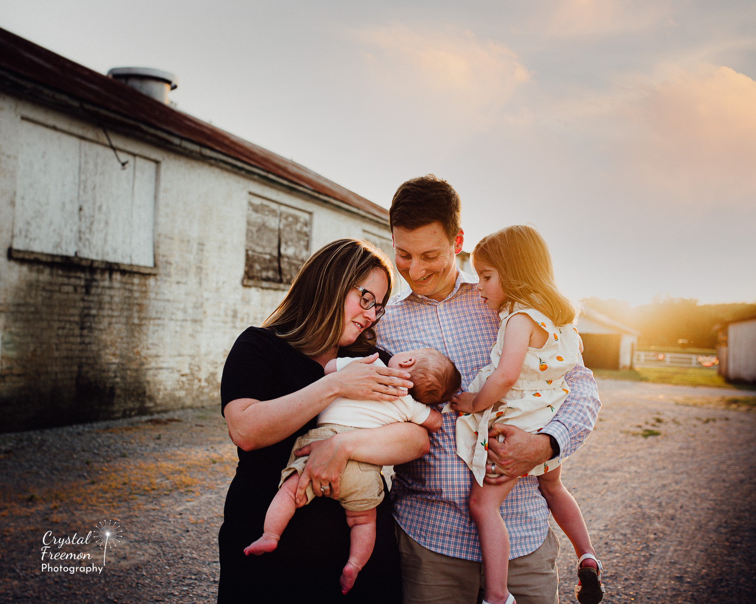 Family Portrait Session at the Park at Harlinsdale Farms