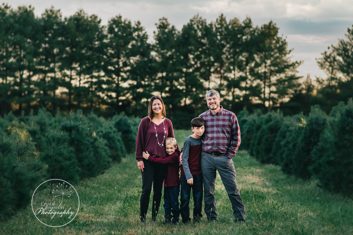 Family of Four Session at Country Cove Farms
