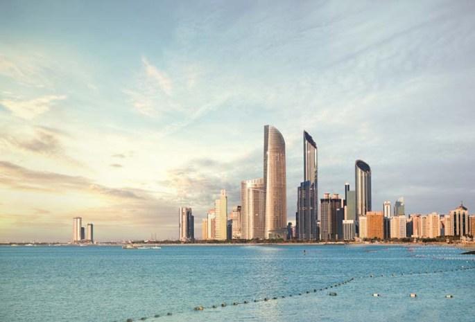 Watch the sunset at Abu Dhabi Corniche