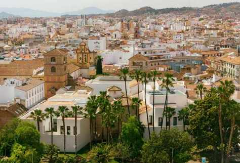 Málaga, Spain – Beautiful Port city of Spain's Costa del So