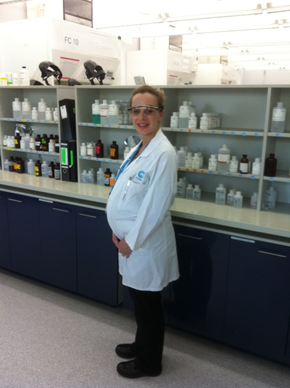 "Daniela Polidori - Analytical Chemist, Process Science & Engineering (Clayton). ""My 1 year old son is probably still too young to be wondering what I do at work, although he has shown quite an interest in my laboratory safety glasses – possibly a future engineer?"""