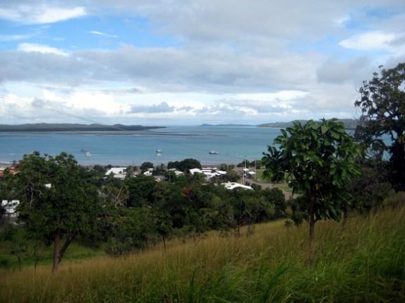 A landscape image of Thursday Island coastline