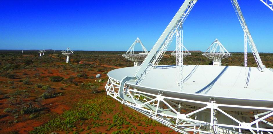 The Australian Square Kilometre Array Pathfinder uses several telescopes to survey the sky. CSIRO, Author provided