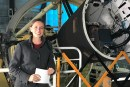 The new Superstar in STEM ambassador Lisa Harvey-Smith at the Australian Astronomical Observatory's 3.9m Anglo-Australia Telescope at Siding Spring Observatory. Author provided