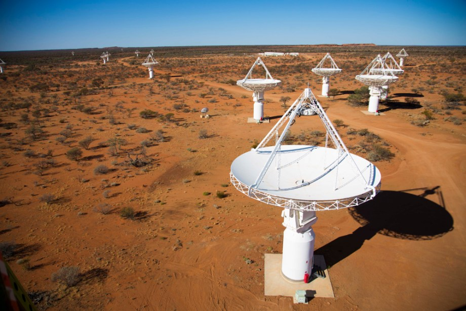 ASKAP telescope dishes in the remote Western Australian outback