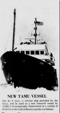 New TAMU Vessel