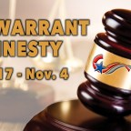 Save money, avoid jail during fall warrant amnesty