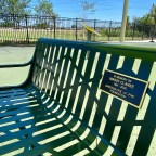 Junction 505 honors the late Marsy Clarke with bench at Fun for All Playground