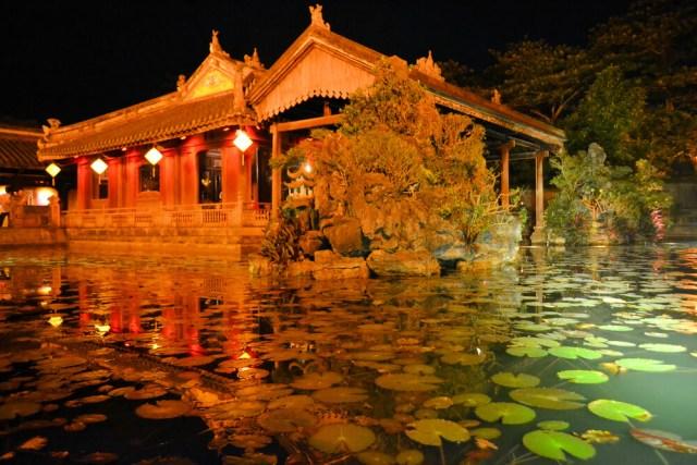 iluminação de lagos ornamentais