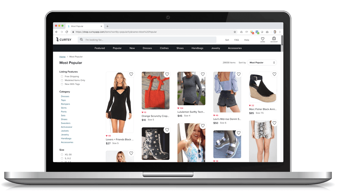 69eb290a39119 Since we launched in Spring 2016 the only way to use Curtsy was on your  phone. Today we're announcing our new website that will let you shop on  your ...