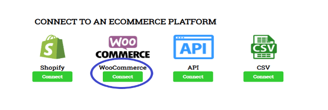 Connect to an ecommerce platform banner