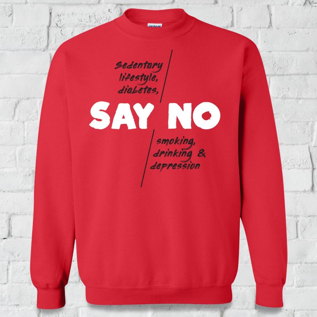 say no to smoking red hoodie