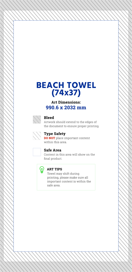 All Over Print Beach Towel Artwork Template