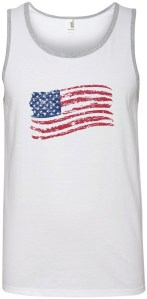 Tank Top With American Flag Design