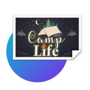 Camp Life Rectangle Sticker