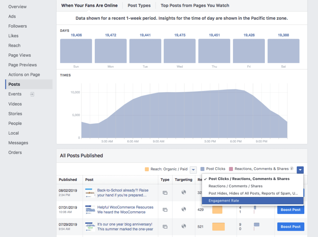 facebook analytics screenshot