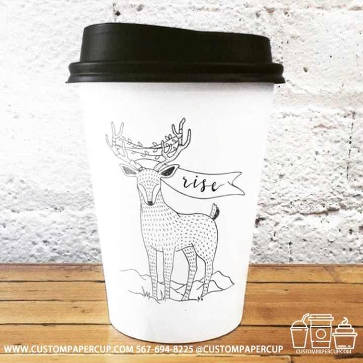 deer christmas rise festive coffee cup