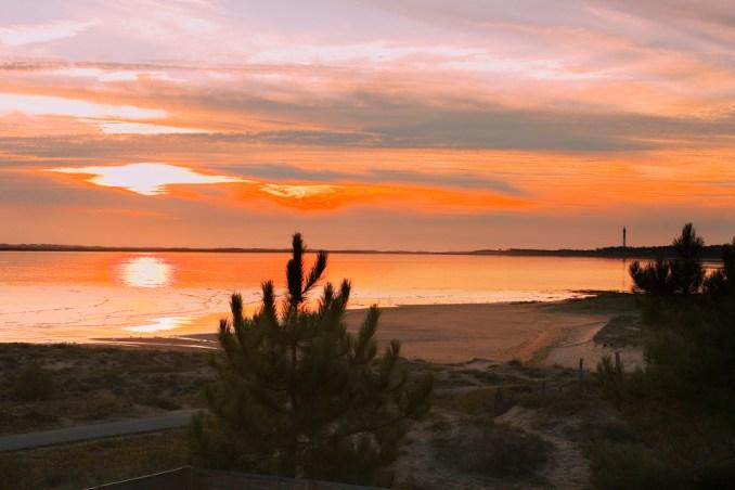 La baie de Bonne Anse au soleil couchant...