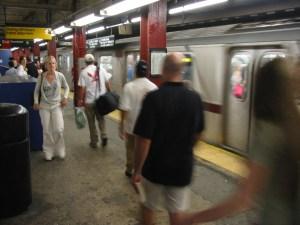 Dans le métro à New York