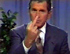 George Bush, la classe américaine.