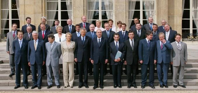 Le gouvernement de Villepin, avec Azouz Begag
