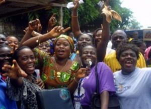 La réaction des femmes du Libéria