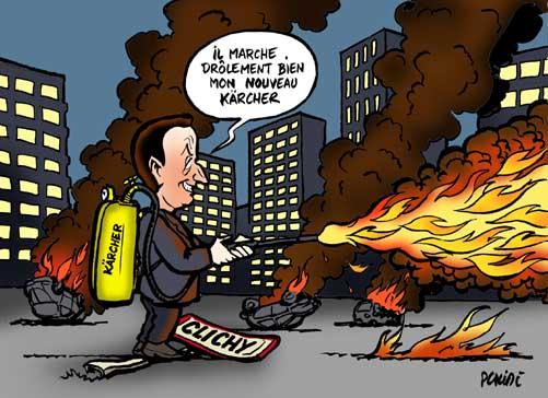 Sarkozy, pompier-pyromane... © www.leplacide.com